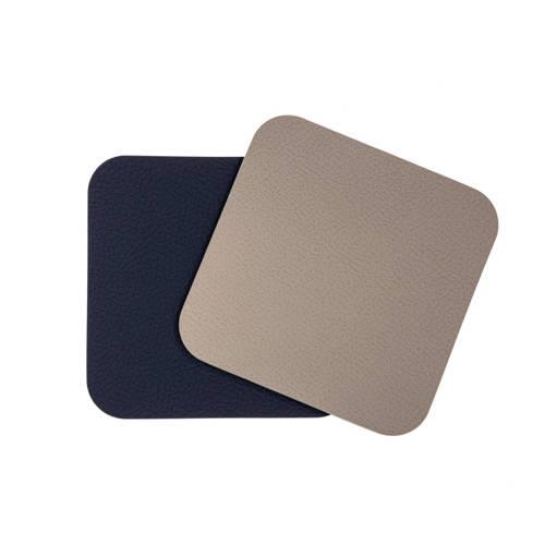 Jay Hill Onderzetters Leer Lichtgrijs Blauw (10x10 cm) (set van 6)