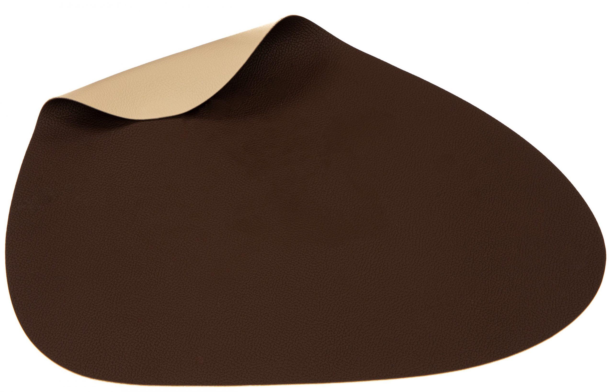 Jay Hill Placemats Leer Bruin Zand Organic 37 x 44 cm - 6 Stuks