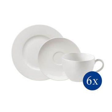 Villeroy & Boch BasicWhite Koffie Serviesset 18-delig