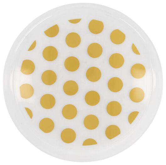 HEMA Plastic Borden Herbruikbaar - Ø22.5 Cm - Gouden Stippen - 4 Stuks