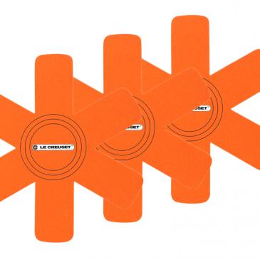 Le Creuset Pannenbeschermers Oranje-Rood 3-Delig
